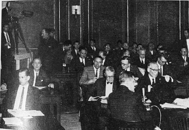 Omaha TV stations WOW, KMTV, KETV pooled equipment to cover FCC hearings at which 120 public witnesses testified (1963).